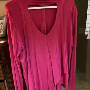 Karen Kane pink blouse
